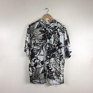 Jams World Burntout Floral Button Down Shirt